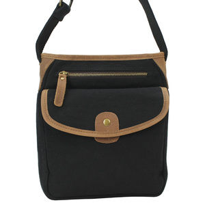 Vintage Cotton Canvas Shoulder Bag CS12BLK